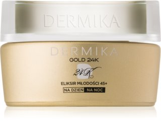 Dermika Gold 24k Total Benefit luxuriöse verjüngende Creme 45+