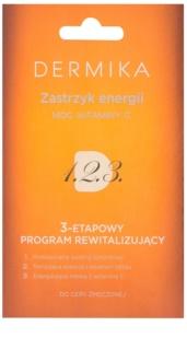 Dermika 1. 2. 3. cuidado revitalizante trifásico para pele cansada
