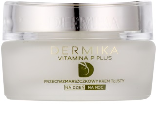 Dermika Vitamina P Plus Nourishing Age Defying Cream for Sensitive, Redness-Prone Skin