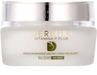 Dermika Vitamina P Plus Anti-Faltencreme für empfindliche Haut mit der Neigung zum Erröten