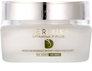 Dermika Vitamina P Plus Anti-Wrinkle Cream for Sensitive, Redness-Prone Skin