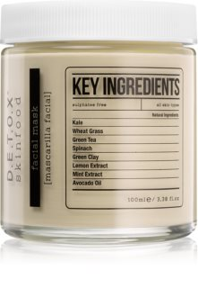 Detox Skinfood Key Ingredients máscara facial hidratante e nutritiva