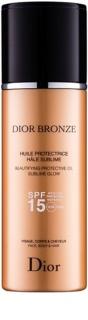 Dior Dior Bronze озаряващо слънцезащитно масло SPF15