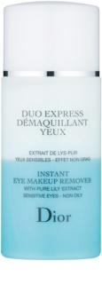 Dior Cleansers & Toners двуфазен продукт за отстраняване на грим от очите за чувствителна кожа на лицето