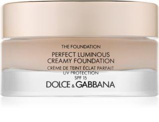 Dolce & Gabbana The Foundation Perfect Luminous Creamy Foundation baza de machiaj iluminatoare SPF 15