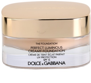 Dolce & Gabbana The Foundation Perfect Luminous Creamy Foundation Silky Make- Up with Brightening Effect