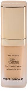 Dolce & Gabbana The Foundation Perfect Matte Liquid Foundation make-up з матуючим ефектом