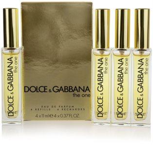 Dolce & Gabbana The One Eau de Parfum für Damen 4 x 11 ml Nachfüllung mit Zerstäuber