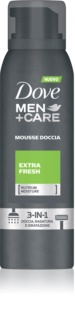 Dove Men+Care Extra Fresh espuma de ducha 3 en 1