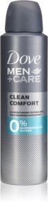 Dove Men+Care Clean Comfort desodorante sin alcohol ni aluminio 24h