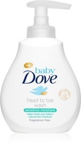 Dove Baby Sensitive Moisture gel detergente per corpo e capelli
