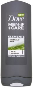 Dove Men+Care Elements gel doccia per viso e corpo 2 in 1