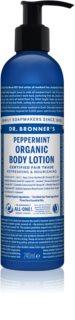 Dr. Bronner's Peppermint latte corpo rinfrescante effetto idratante