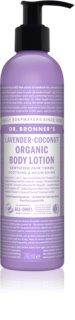 Dr. Bronner's Lavender & Coconut lait corporel nourrissant intense pour peaux normales et sèches
