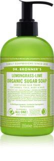 Dr. Bronner's Lemongrass & Lime mydło w płynie do ciała i włosów