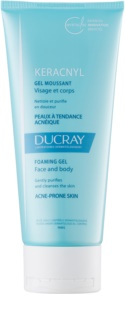 Ducray Keracnyl Purifying Foam Gel For Oily Acne - Prone Skin