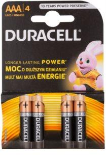 Duracell 1,5 V Alkaline AAA baterie 4 szt