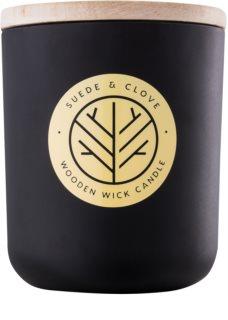 DW Home Black Suede & Clove mirisna svijeća 320,35 g s drvenim fitiljem