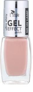 E style Gel Effect Gel Nail Varnish without UV/LED Sealing