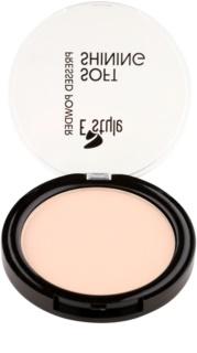 E style Soft Shining pó compacto iluminador para tom ideal de pele