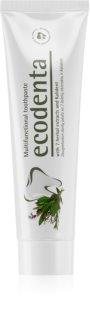 Ecodenta Green Multifunctional pasta de dientes con flúor para una protección completa para dientes