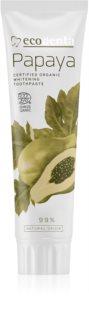 Ecodenta Cosmos Organic Papaya bleichende Zahnpasta mit Fluor