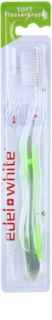 Edel+White Flosser Brush Toothbrush Soft
