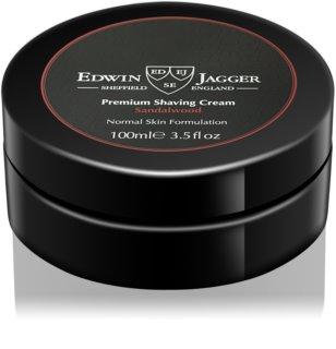 EDWIN JAGGER Sandalwood crème à raser pour peaux normales