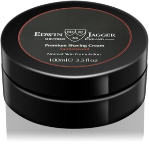 EDWIN JAGGER Sandalwood crema de afeitar para pieles normales