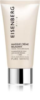 Eisenberg Pure White μάσκα λάμψης και ενυδάτωσης για την αντιμετώπιση των καφέ κηλίδων