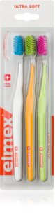 Elmex Swiss Made brosses à dents 3 pièces ultra soft