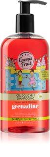 Energie Fruit Grenadine gel de douche et shampoing 2 en 1
