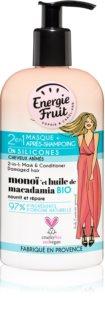 Energie Fruit Monoi masque 2 en 1 pour cheveux abîmés