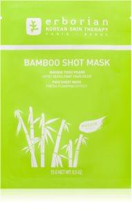 Erborian Bamboo mascarilla nutriente en forma de hoja con efecto humectante