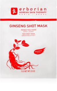 Erborian Ginseng Shot Mask maseczka płócienna o działaniu wygładzającym