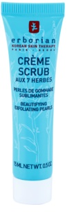 Erborian Detox 7 Herbs jemný peelingový krém pro obnovu povrchu pleti