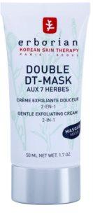 Erborian Detox Double DT-Mask 7 Herbs delikatny krem złuszczający 2 w 1