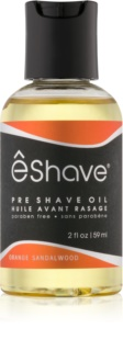 eShave Orange Sandalwood olio pre-rasatura