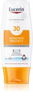 Eucerin Sun Kids zaščitno mleko za telo za otroke z mikropigmenti SPF30