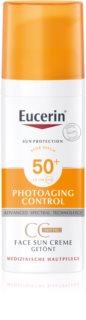 Eucerin Sun Photoaging Control CC cream protetor solar SPF 50+