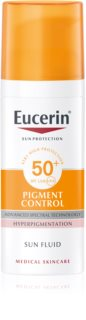 Eucerin Sun Pigment Control emulsie protectoare împotriva hiper-pigmentării tenului SPF 50+