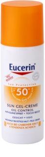 Eucerin Sun zaščitni kremasti gel za obraz SPF50+