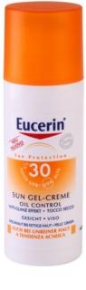 Eucerin Sun védő géles krém az arcra SPF30