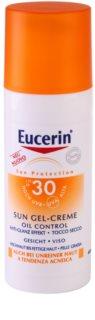 Eucerin Sun védő géles krém az arcra SPF 30