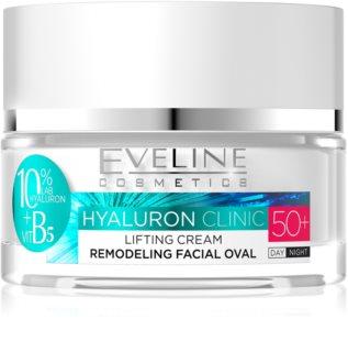 Eveline Cosmetics Hyaluron Clinic crema de día y noche con efecto lifting 50+