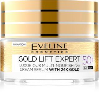 Eveline Cosmetics Gold Lift Expert creme de dia e de noite antirrugas 50+
