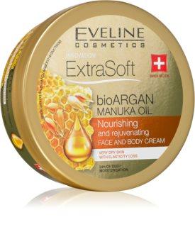 Eveline Cosmetics Extra Soft ενυδατική κρέμα για σώμα και πρόσωπο με έλαιο αργκάν
