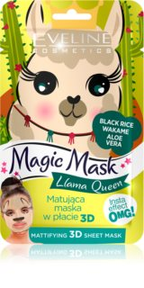 Eveline Cosmetics Magic Mask Lama Queen normalizující matující maska 3D