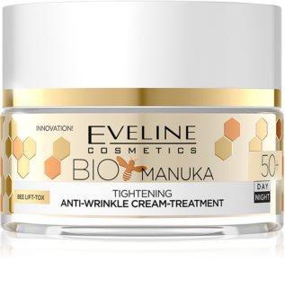 Eveline Cosmetics Bio Manuka zpevňující a vyhlazující krém 50+