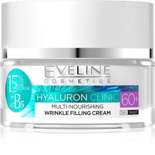Eveline Cosmetics Hyaluron Clinic creme de dia e noite nutritivo e reparador para pele madura